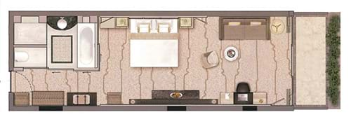Family Sea View Room Floor Plan